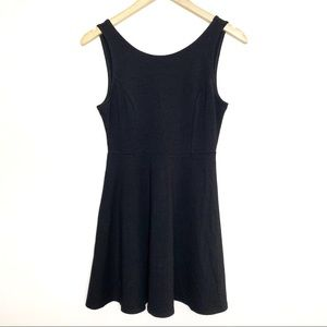 Lulu's black fit and flare dress